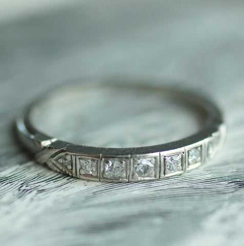 Circa 1940 14K half-eternity band