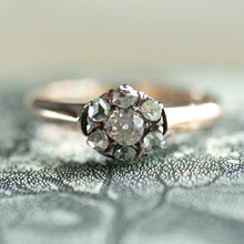 Circa 1890 French 14K Diamond Ring