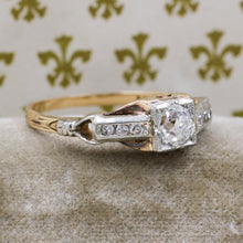 1930s Two-tone Old Mine Cut Diamond Ring