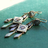 Circa 1840-1870 Micro Mosaic Egyptian Revival Earrings