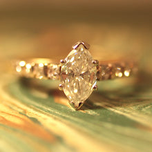 Circa 1980 Marquis-Cut Diamond Ring