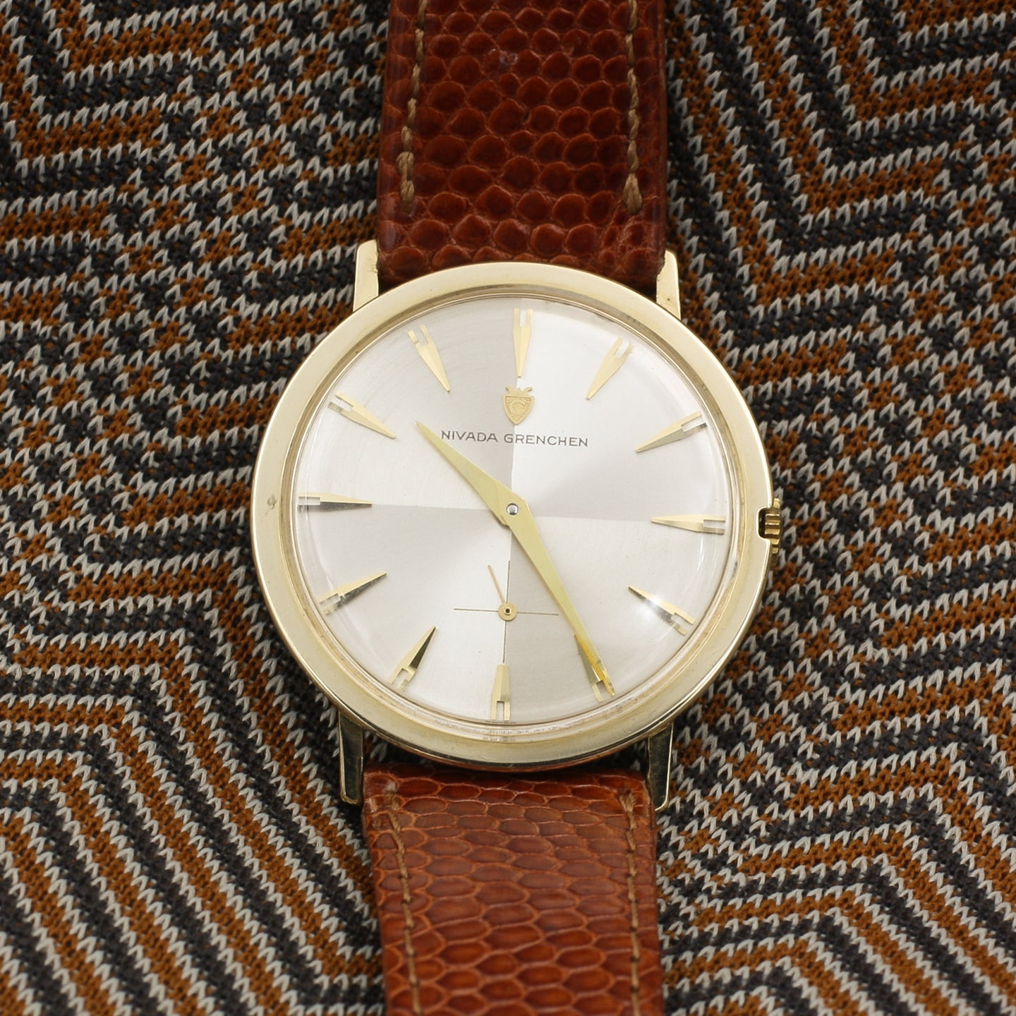 Nivada Grenchen Gold Wristwatch c1960