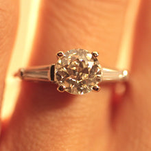 Circa 1940-1950 Platinum Diamond Ring