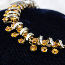 1950s Christian Dior by Kramer Amber Rhinestone Collar Necklace