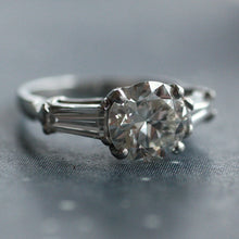 Mid-Century 1.55ct diamond & platinum engagement ring