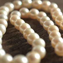 Circa 1950's Pearl Necklace with Diamond Clasp