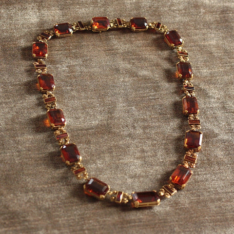 Circa 1920/1930 Madeira Citrine 19K Necklace