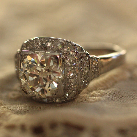 Circa 1920 1.75 Carat Diamond Ring