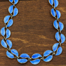 1955 Willy Winnaess for David Andersen Sterling Enamel Necklace