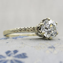 Edwardian 1.10 Carat GIA Certified Diamond Solitaire