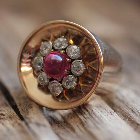 18K Burmese Ruby Ring