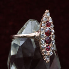 Ruby and Diamond Navette c1880