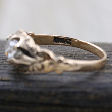 c1880 Old Mine Cut Diamond Rose Gold Solitaire- Hallmarks