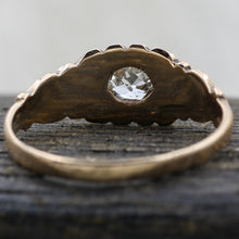 c1880 Old Mine Cut Diamond Rose Gold Solitaire- Underside View