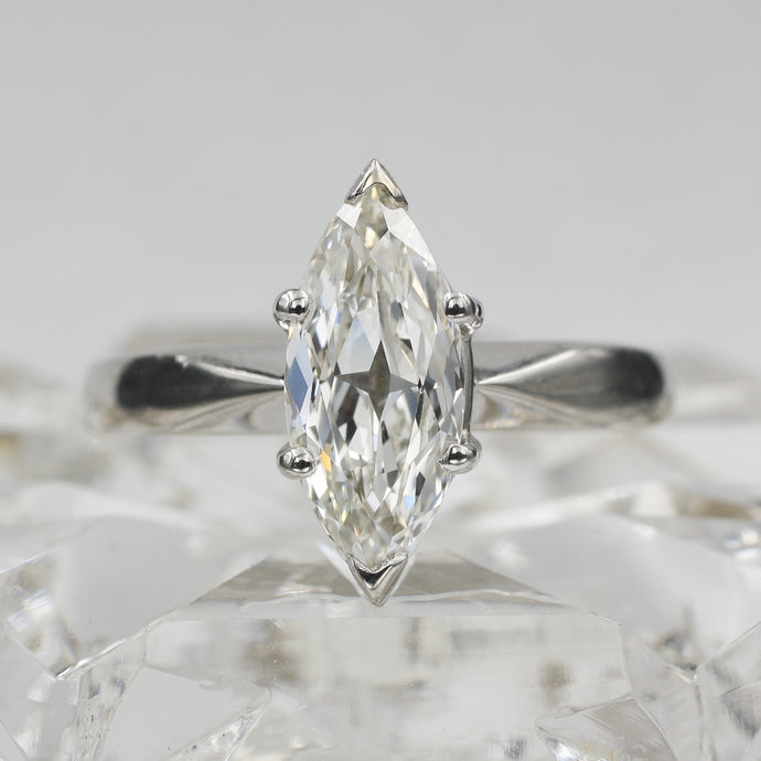 Antique Star Marquise Cut Diamond Ring c1950