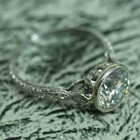 Circa 1940 Platinum & Diamond Ring