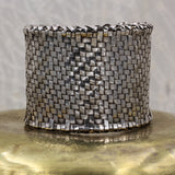1970s-80s Tiffany & Co. Sterling Basketweave Cuff