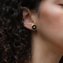 1930s Onyx and Diamond Gold Studs