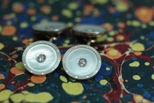 Circa 1920 14K Platinum & Diamond Cufflinks