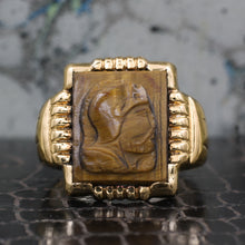 1930s Tiger Eye Cameo Ring