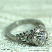 Circa 1920's Platinum & Diamond Engagement ring