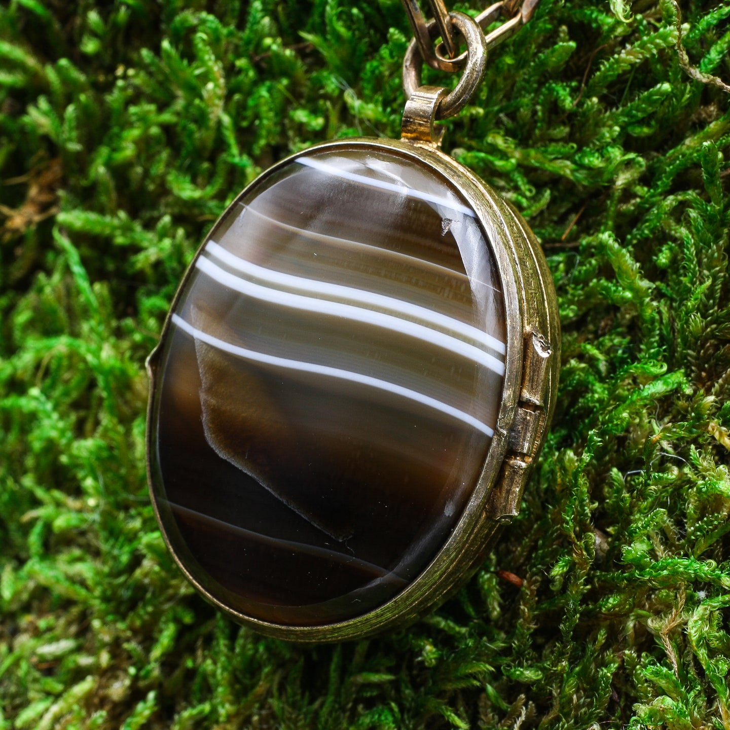 c1900 Scottish Agate Locket