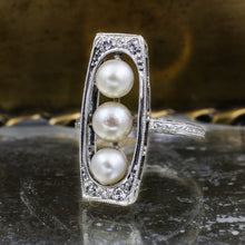 c1900 Natural Pearl Dinner Ring