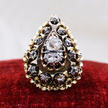 Early Victorian Rose Cut Diamond Pear Ring