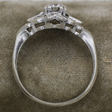 1920s Deco Platinum .47 Carat Diamond Ring