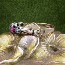 c1880 Ruby and Diamond Band
