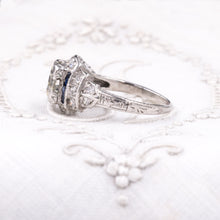 Deco 1.20 Carat Diamond Step Ring