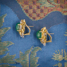 Brutalist Emerald Earrings c1970