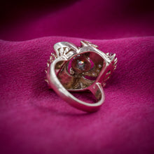 Retro Ruby and Diamond Cocktail Ring c1940