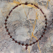 Bohemian Garnet and Pearl Necklace c1930