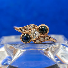 Old European Diamond and Sapphire Ring c1910
