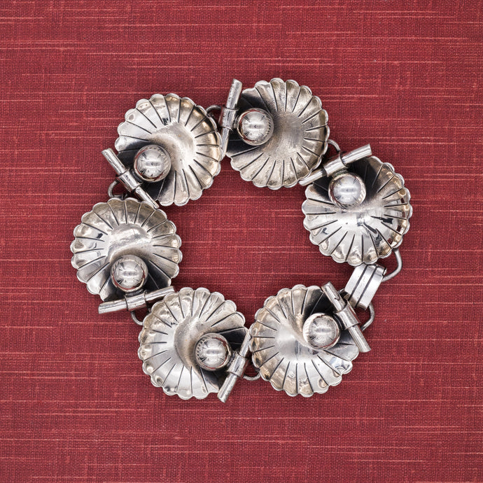 Danecraft Sterling Shell Bracelet c1940