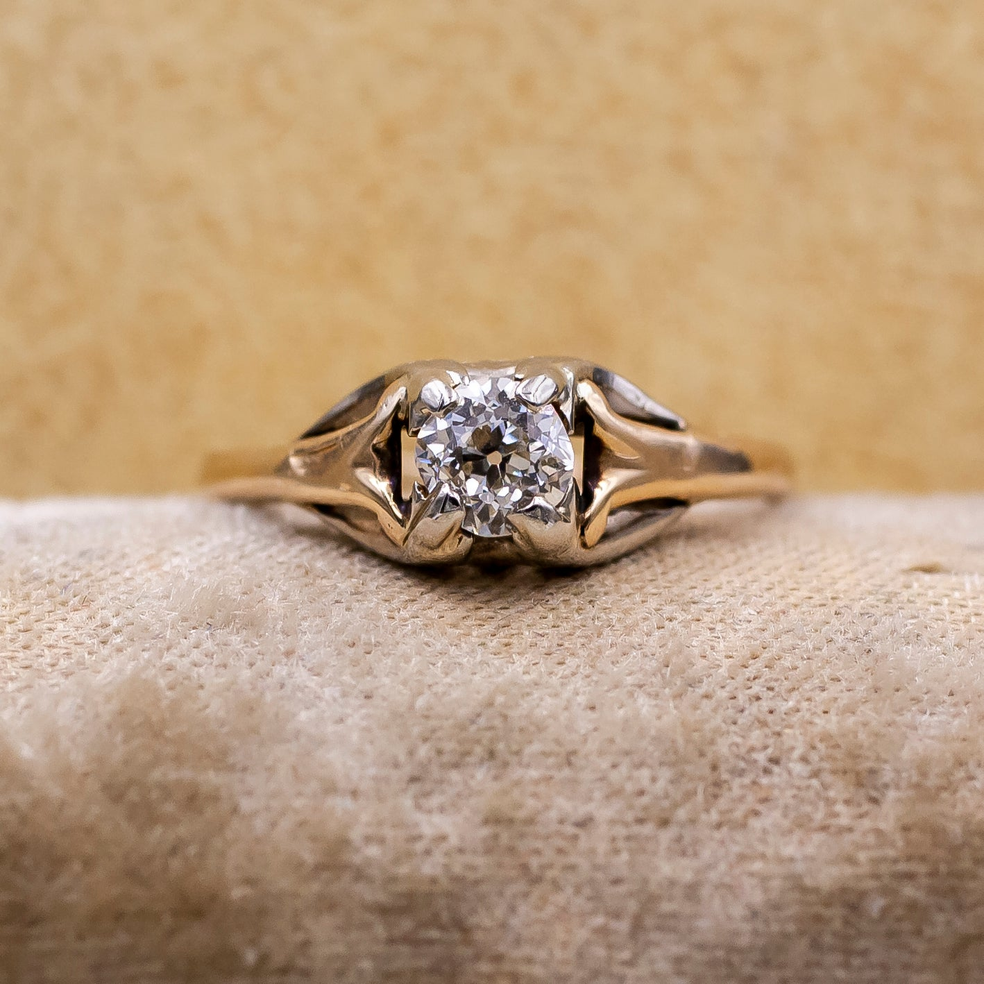 Late Victorian Old Mine Cut Diamond Ring