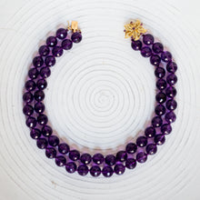 Amethyst Bead Necklace c1980