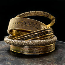 Sterling Repousse Bangle c1900