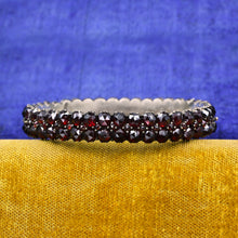 Bohemian Garnet Hinged Bangle c1880