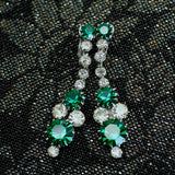 Circa 1960 Kramer Rhinestone Earrings