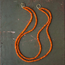 Mexican Fire Opal Bead Necklace
