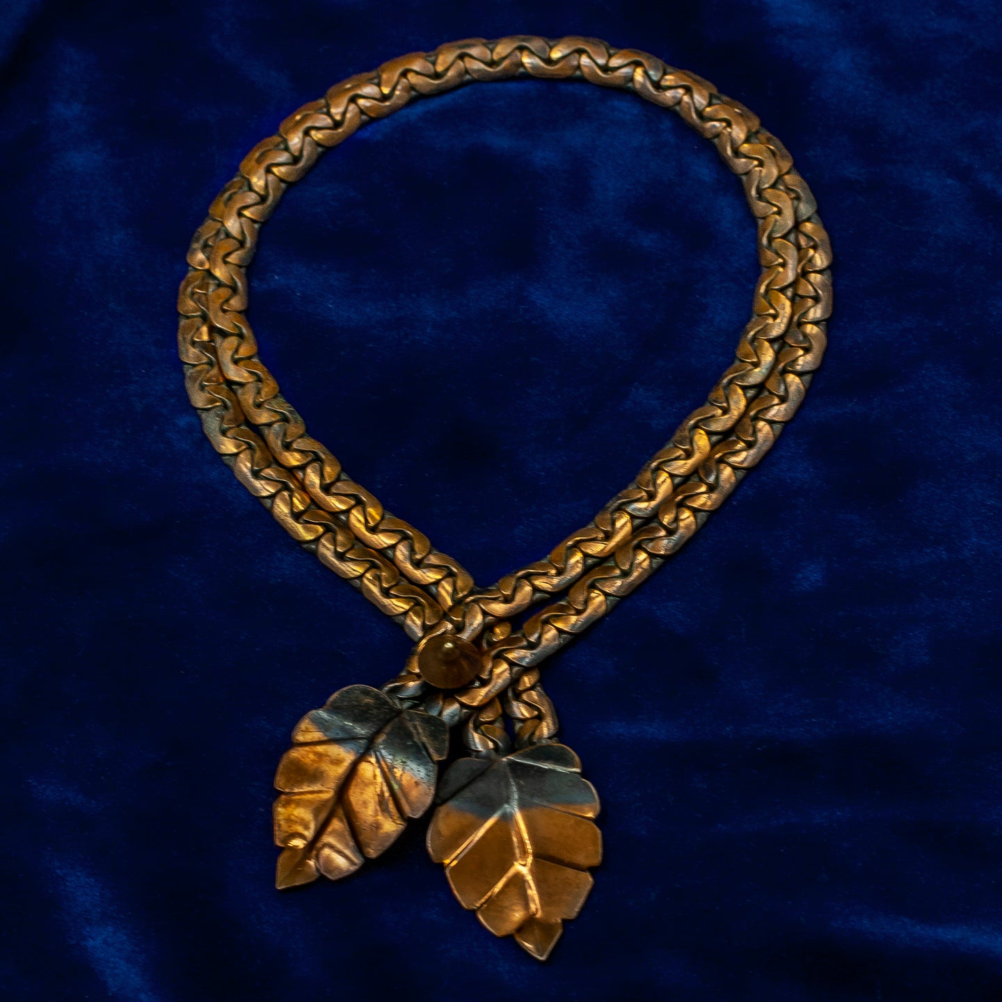 Rebajes Copper Leaf Bolo Necklace c1950