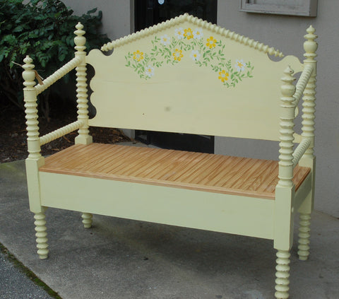 Bench Made From an Antique Bed