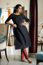 Load image into Gallery viewer, kamini black stylish kurti