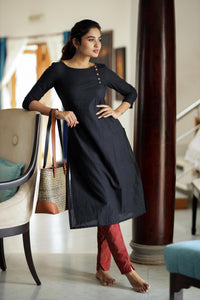 kamini black stylish kurti