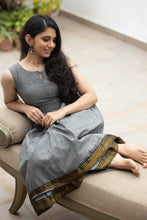Load image into Gallery viewer, Meghana Grey Mangalagiri Dress