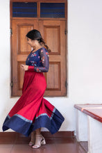 Load image into Gallery viewer, Damini Navy blue and Maroon red
