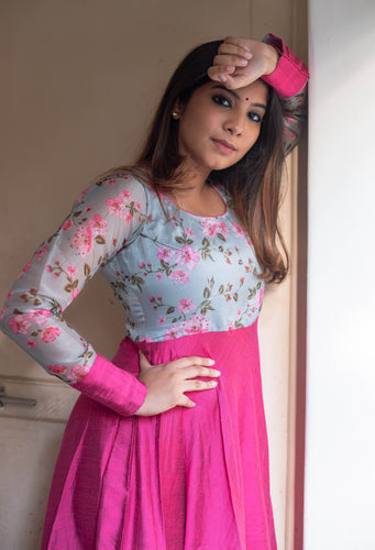 Damini Pink and Grey