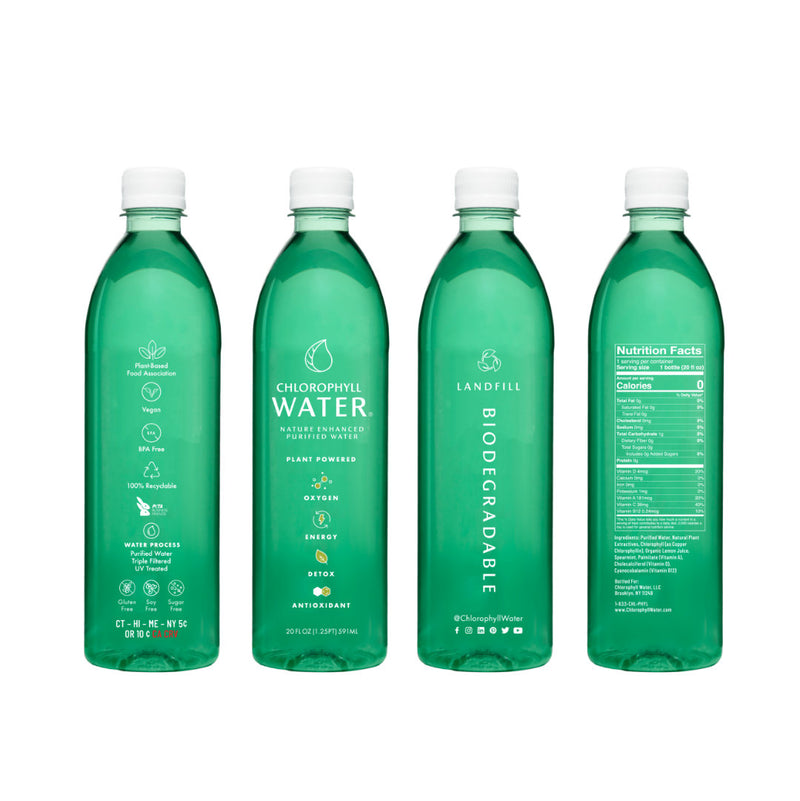 Chlorophyll Water Launches Landfill Biodegradable Bottles [Green Business Bureau]